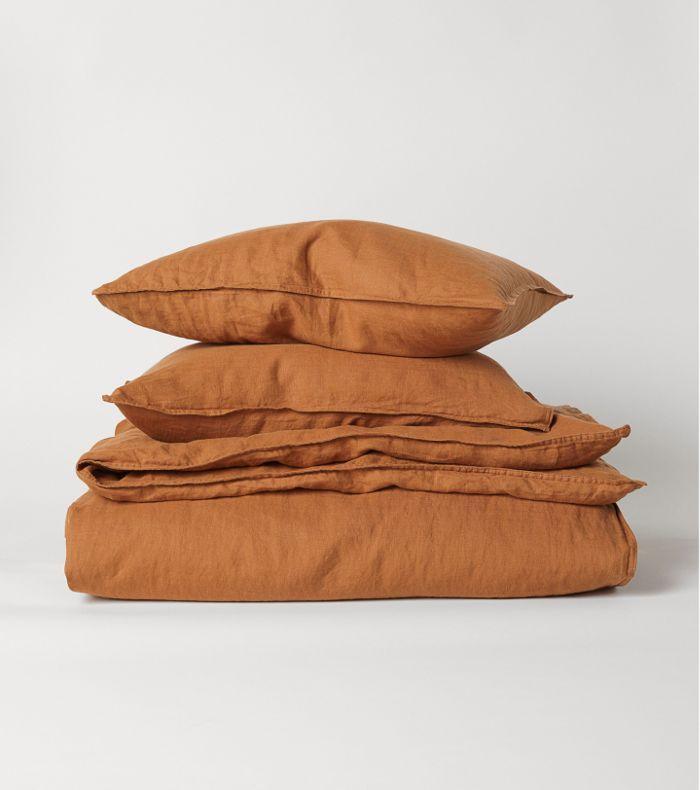 Design Decor Washed Linen Duvet Cover Linen Duvet Orange Duvet Covers