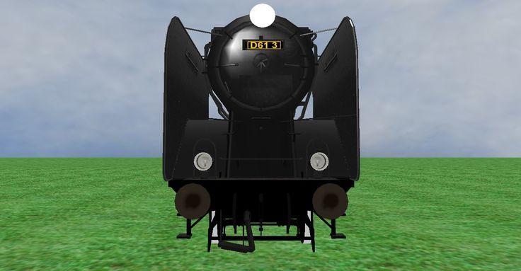 JNR D61 steam loco frontview