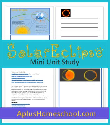 FREE Solar eclipse #math lesson & mini unit #homeschool #hsbloggers