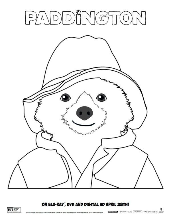 Free Paddington Coloring Sheet Bear Coloring Pages Paddington
