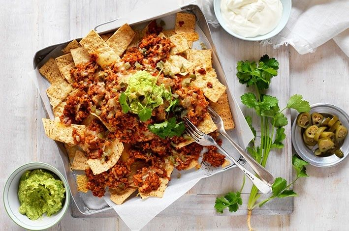Chicken and Mushroom Nachos. Blending mushrooms into minced meat provides a number of benefits find out more...