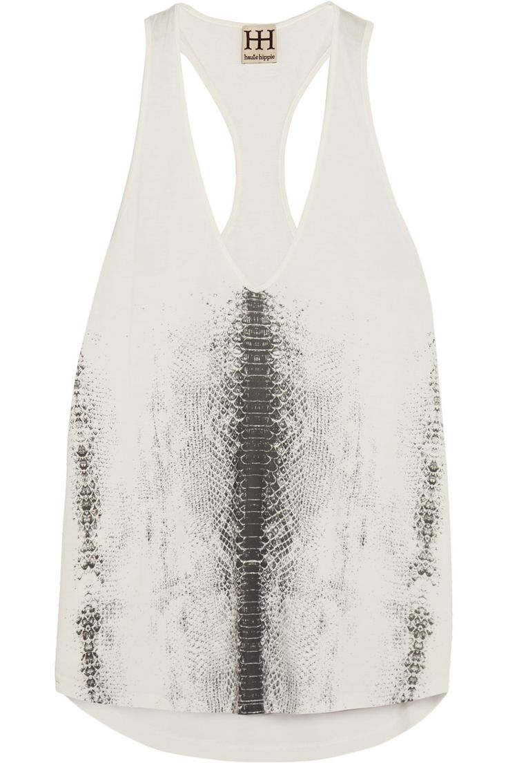 HAUTE HIPPIE Printed modal tank top. #hautehippie #cloth #top