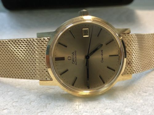 Omega-Automatic-Geneve-18k-Solid-Gold-35mm-Collection-Watch-1976, 40k