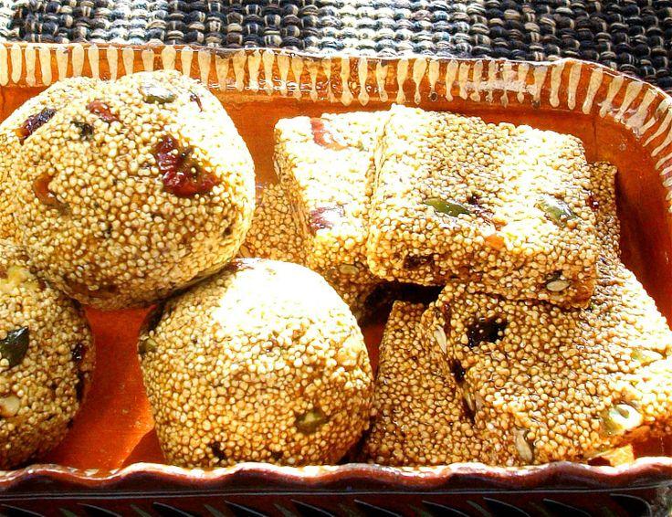 Dulces típicos de un superalimento: Alegrías de amaranto