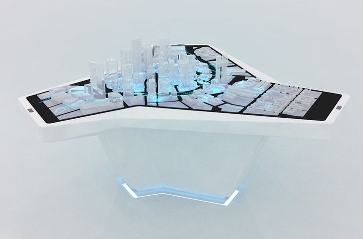 AUDI urban future initiative shows vision of mobility with interavtice model at CES 2014