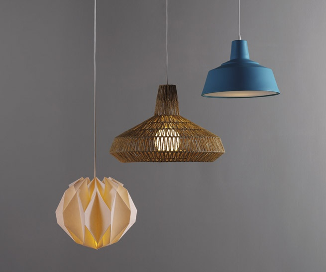 Quirky String Lights : Distinctive Wilbur hand woven string pendant shade, casts wonderful shadows on the ceiling when ...