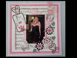 Scrapbooking pink and black