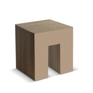 Kartonová stolička Panca Natural