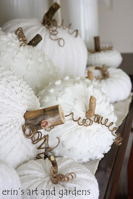 erin's art and gardens chenille pumpkins