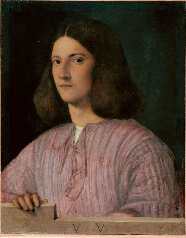 Giorgione, Portrait of a Young Man ('Giustiniani Portrait'), c. 1497-99. Oil on canvas. 57.5 x 45.5 cm. Gemäldegalerie, Staatliche Museen zu Berlin, inv. 12A. With kind permission of the Gemäldegalerie, Berlin. © Photo: Jörg P. Anders.