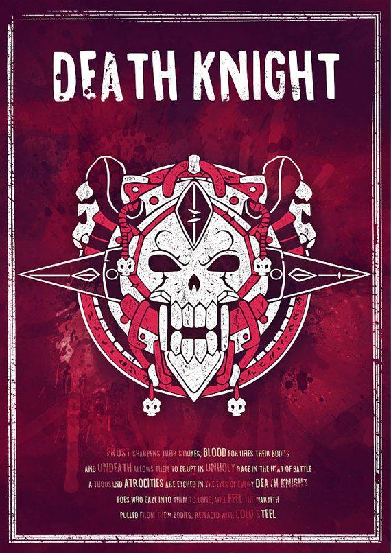 Sale World of Warcraft: Death Knight Class Symbol by SodaArcade