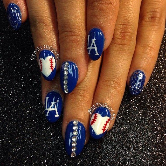 mznguy3n Los Angeles Dodgers #nail #nails #nailart