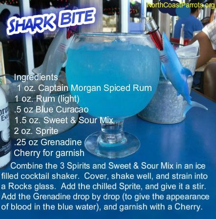 It's Shark Week Thirsty Thursday - Fins to the Left, Fins to the Right ... #FinsUp #SharkWeek #ParrotHeads