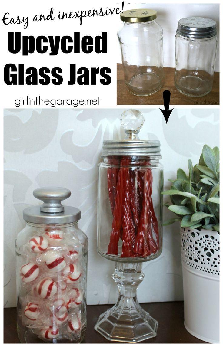 DIY Upcycled Glass Jars so easy