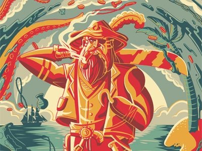 This illustration was part of an editorial piece on various pirate artefacts and treasures