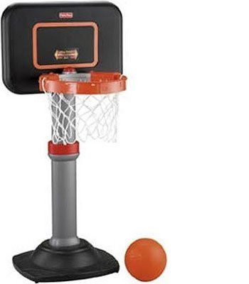 """Fisher-Price Grow to Pro Basketball Junior Set by Fisher-Price. $49.60. Easy-Adjust Rim shrinks to a pro 12"""" diameter or expands to a big 16"""" diameter.. Adjust the backboard to 4 different heights as your child grows. Shoot a winning game with the Fisher-Price Grow-to-Pro Basketball Junior Set. The hoop grows with your child from small to tall and from beginner to pro. Little ballers start with the Easy-Adjust Rim expanded to a 16"""" diameter, because a bigger b..."""