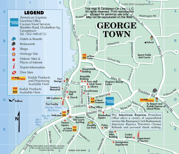 10) Map of George Town, Grand Cayman: Ready to have a great time while in George Town, let's go... #DreamGetaway #Tours4Fun #Contest