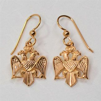 """Byzantine and Russian Imperial Crest Earring Set (14kt Gold) In 395 AD St. Theodosius the Great established the double-headed eagle as the Imperial Crest of the Roman Empire ruled from two capitals, Rome in the West and Constantinople in the East. When Byzantium was conquered by the Turks in 1453, Moscow became the """"third Rome"""" and successor to the Byzantine emperors. In 1472 Byzantine double headed eagle became the royal coat of arms in Russia and in 1533 John the fourth became the first…"""