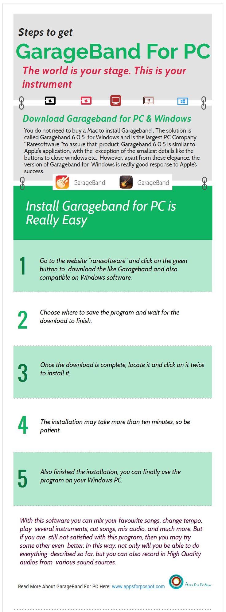 Download GarageBand for PC Windows 7, 8.1, 10 Garage