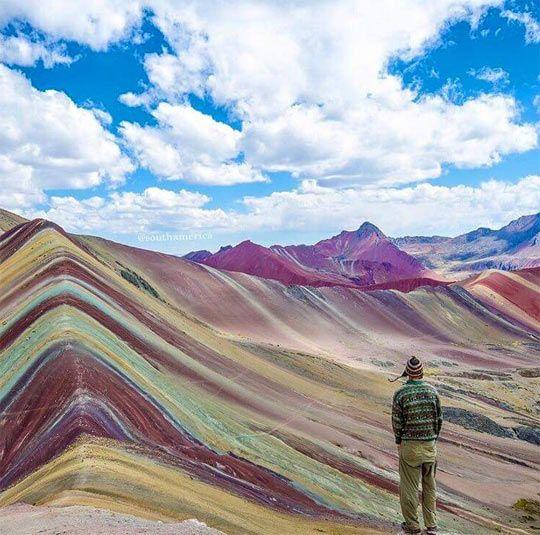 Montañas Arco Iris,Perú.