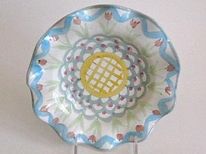 Mackenzie Childs Plate Ceramic Majolica Pottery Taylor Collection Stoke Gabriel | eBay