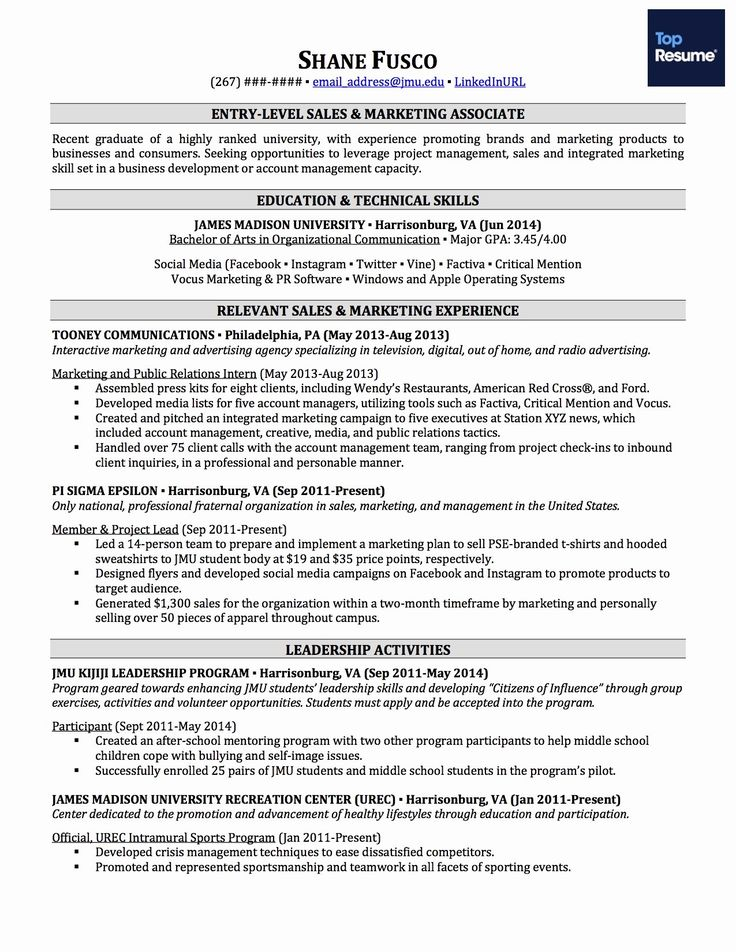 Entry level information technology resume with no