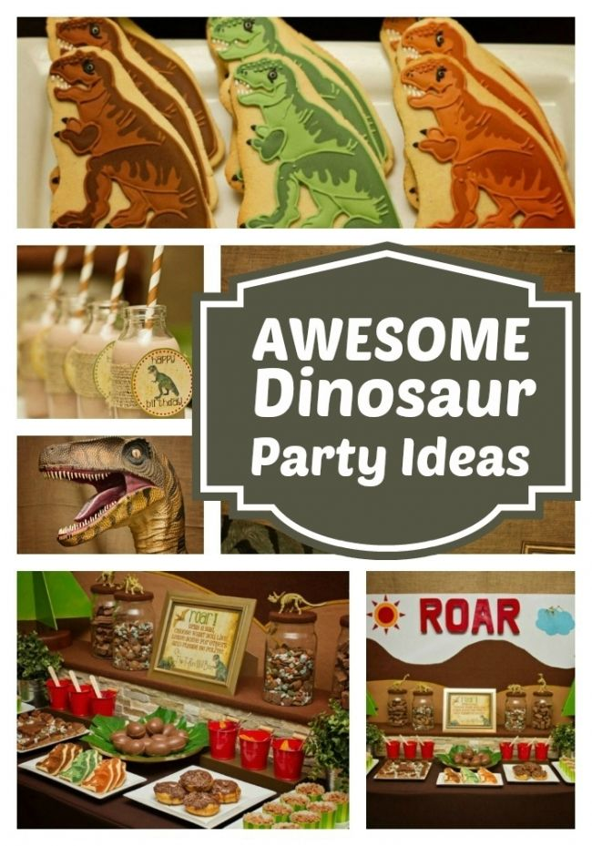 Click here to get awesome ideas for you child's next Dinosaur themed birthday party! The chocolate dino egg treats look delicious!