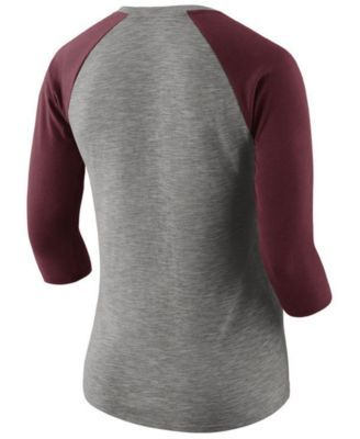 Nike Women's Cleveland Cavaliers Cityscape Raglan T-Shirt - Gray XXL