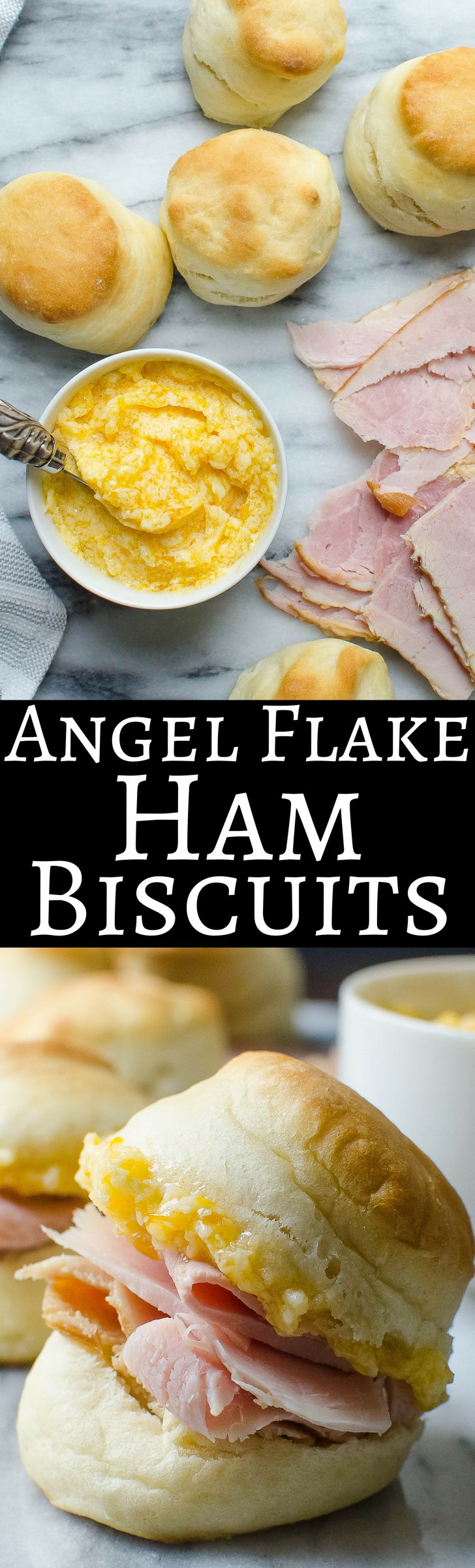 Angel Flake Biscuits with Salty Ham