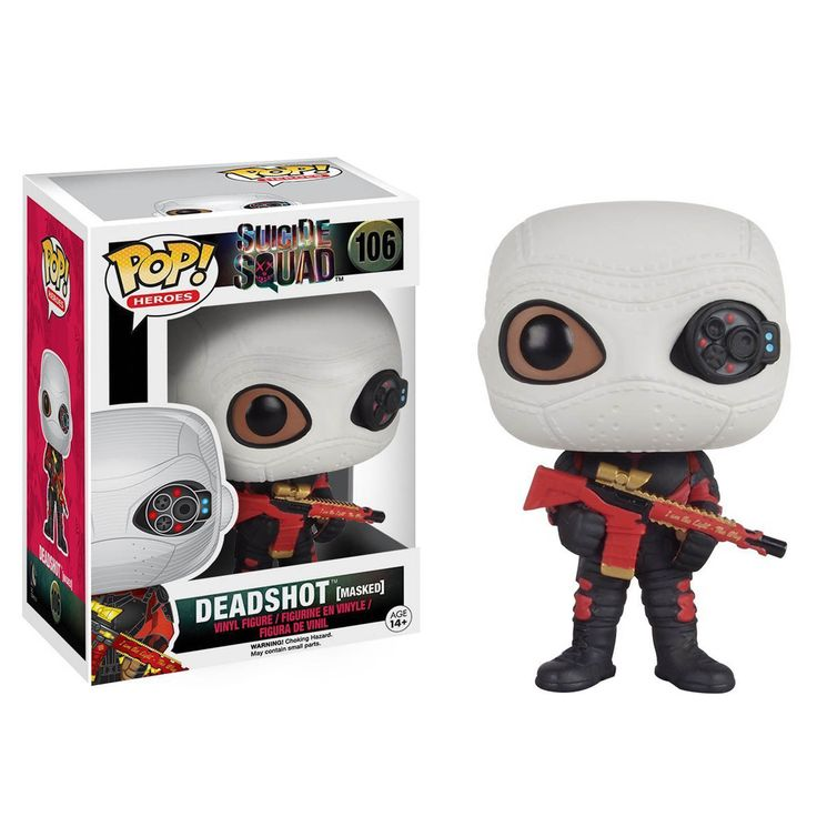 This is a Funko Suicide Squad POP Deadshot Masked Vinyl Figure that's produced by the nice folks over at Funko. It's great to see a DC character like Deadshot in Funko POP Vinyl style! Deadshot looks