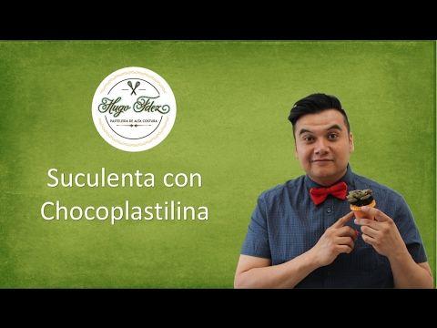 Tutorial suculenta de chocoplastilina - YouTube