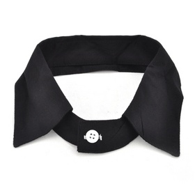 TopTie Unisex Fashion Black T Shirt Fake Collar $7.99 #collar