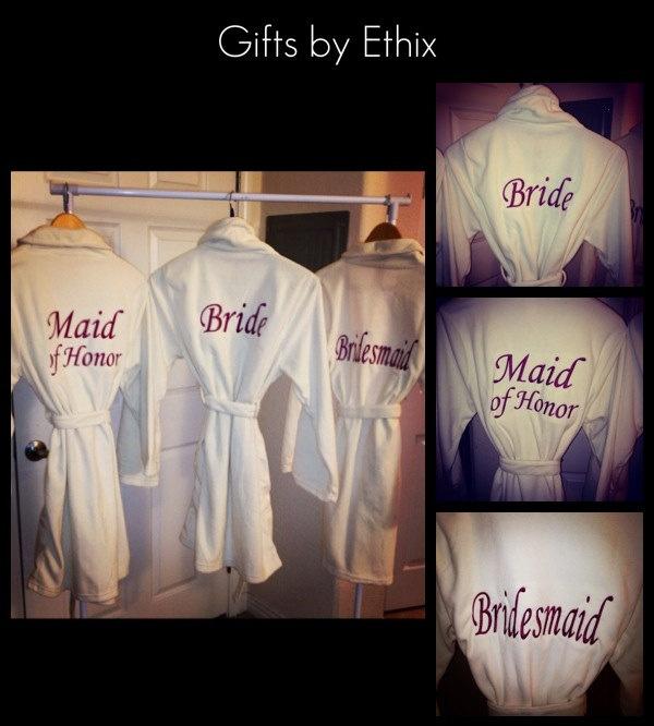 Bride Fleece robe, Bridesmaid robe, Maid of Honor Robe