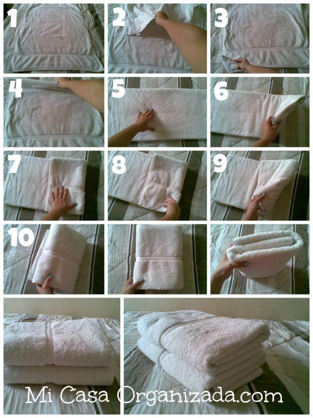 como doblar panos o toallas