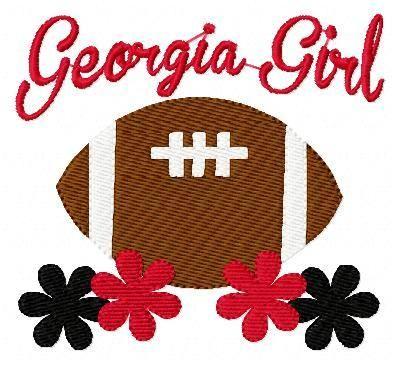 Georgia Girl Football - Joyful Stitches