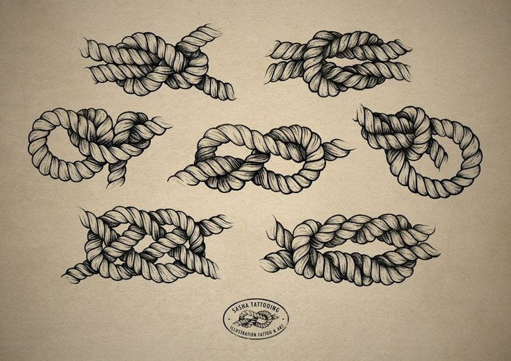 Rope/ knot tattoo design