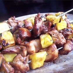 Bacon, Chicken & Pineapple Skewers