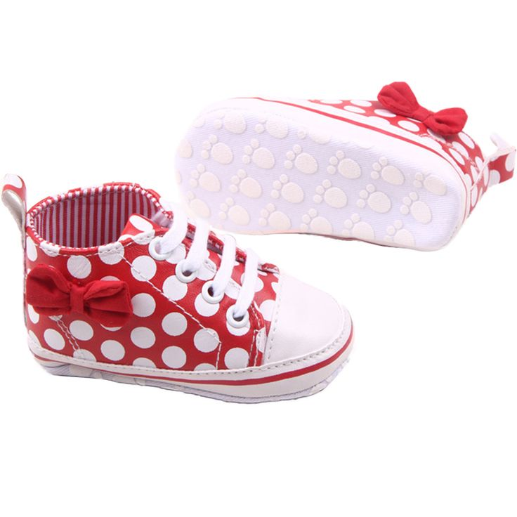Girl Slip-On Sneaker Toddler Kid Comfy Polka Dots Pu Leather Baby Shoes For Toddler Girls #Affiliate