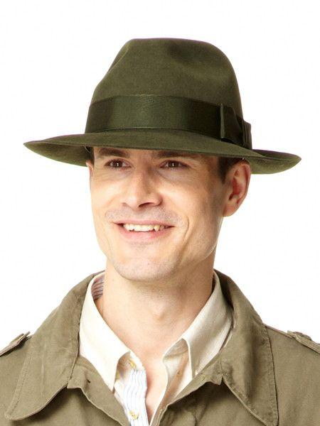 Fur Felt Fedora Hat - Pale Moss