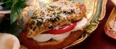 Pesto Chicken Bruschetta recipe