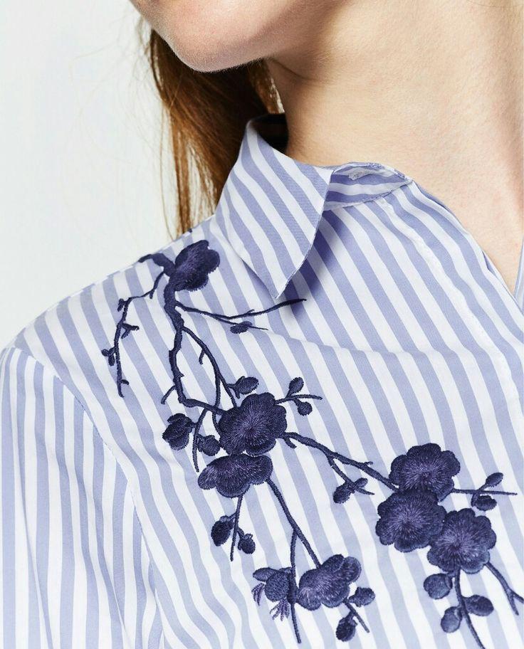 Embroided Zara Shirt Camicia Zara con ricamo