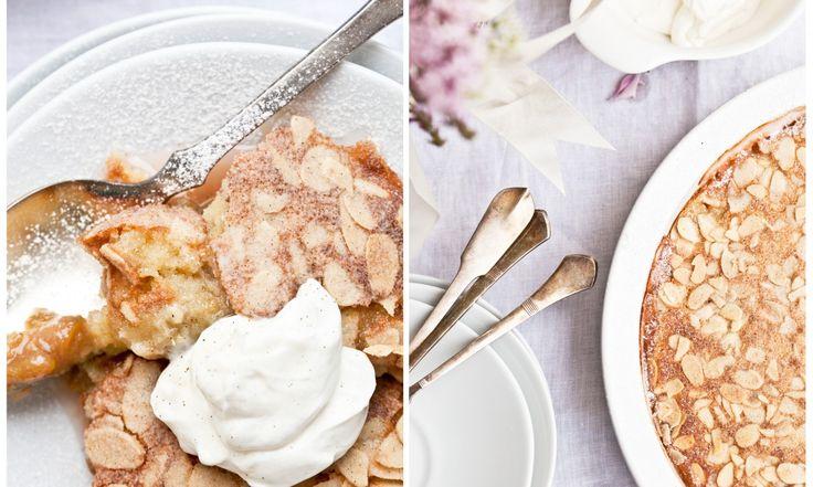 Rebarborovo-jablečný mandlový koláč   KITCHENETTE