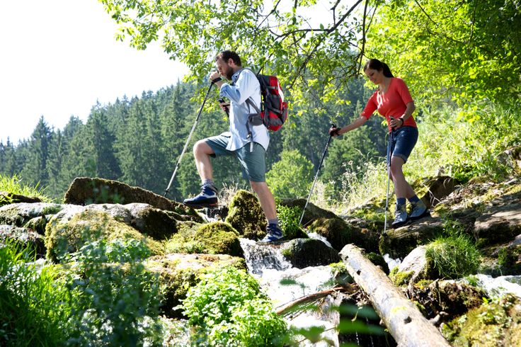 Wandern im idyllischen Tal der Murg...