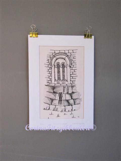 Original Pen Drawing || Duckett's Grove || Carlow || Ireland || Illustration || 19th Century House || Drawing || Irish Art || Irish Artist || Haunted House || Castle ||