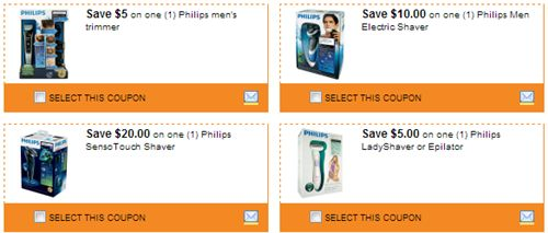 Philips - Coupons for $5 off Men's Trimmer, $20 off SensoTouch Shaver   More!