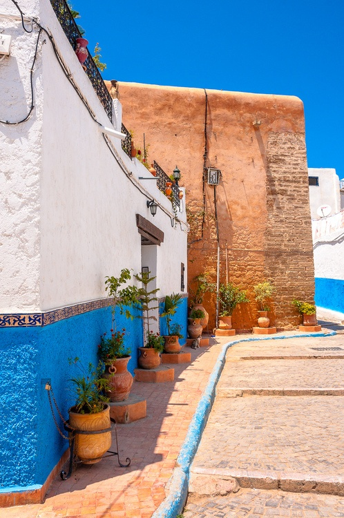 The Beautiful Streets Of The Kasbah Oudaya In Rabat Colourful Morocco