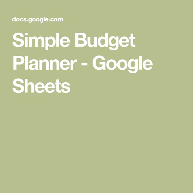 The  Best Simple Budget Template Ideas On   Family