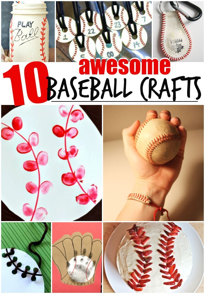 10 Baseball Crafts for Kids - your baseball fans will love these! #GildanFavorites @GildanOnline AD