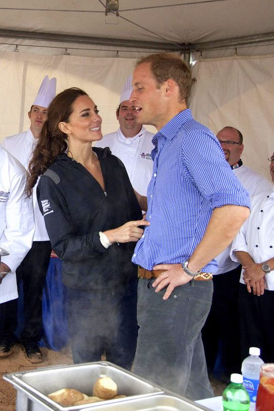 Catherine, Duchess of Cambridge and Prince William, Duke of Cambridge visit the beach and try culinary stations on day 5 of the Royal Couple's North American Tour, July 4, 2011 in Charlottetown, Prince Edward Island, Canada.
