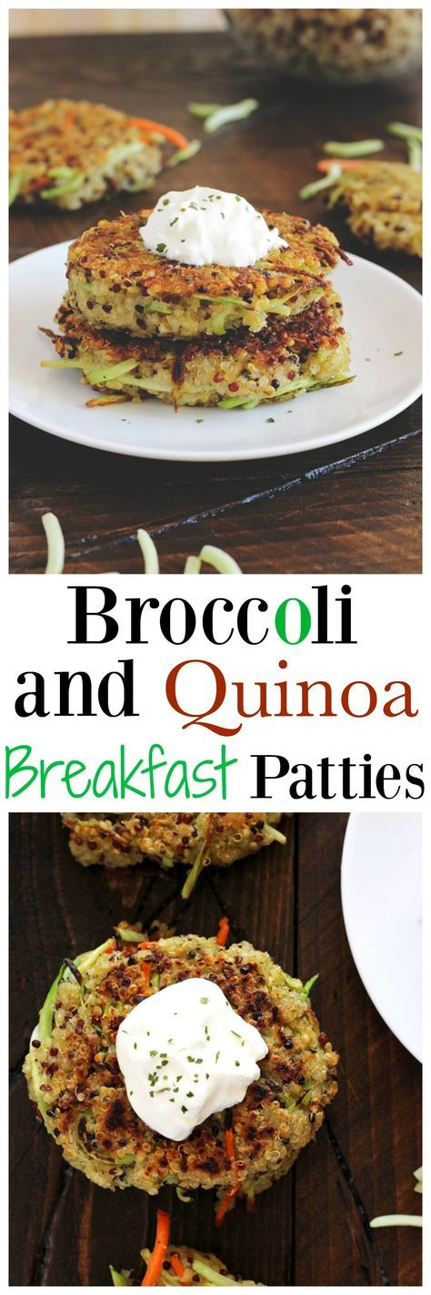 Broccoli and Quinoa Breakfast Patties - Made with broccoli, quinoa, carrots and flax seeds, a healthy addition to your morning routine. But don't stop there, you can even use these to make loaded veggie burgers! http://NeuroticMommy.com #vegan #healthy